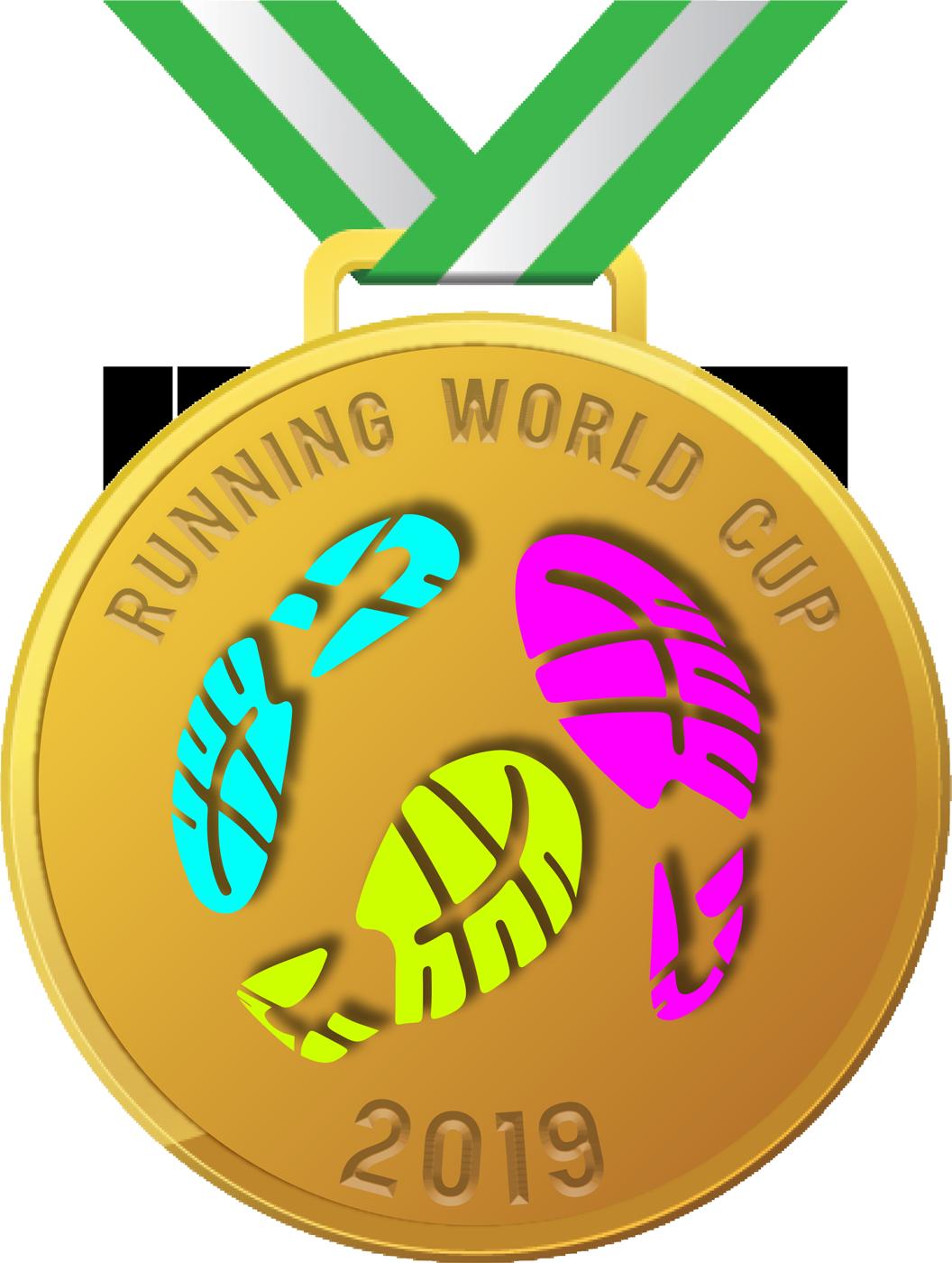 Running World Cup Mass Participation Gold Medal